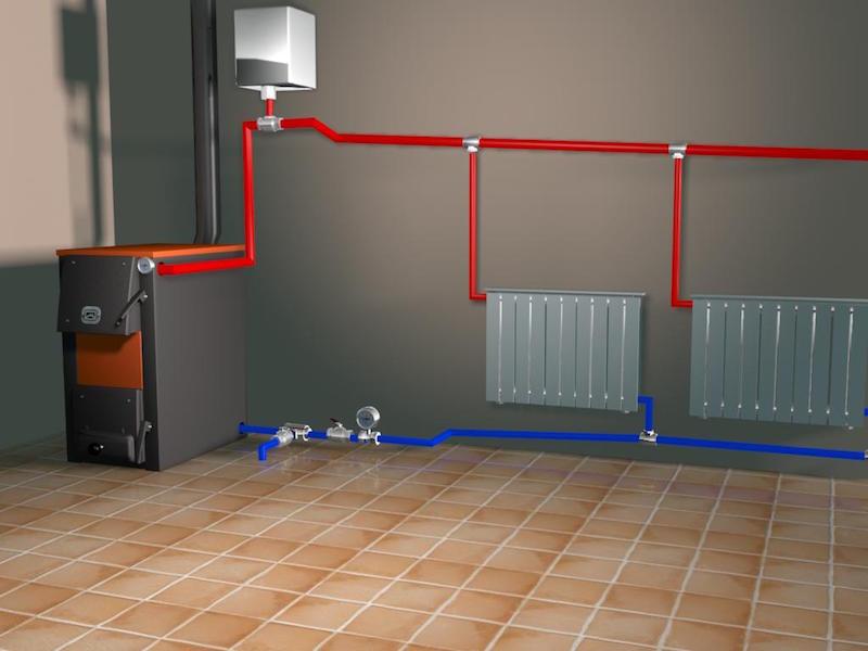 Отопление в частном доме своими руками схема фото 62
